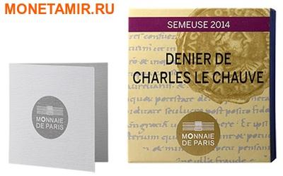 Франция 10 евро 2014.Денье 864 года. Монеты на монетах.Арт.000173548484 (фото, вид 3)