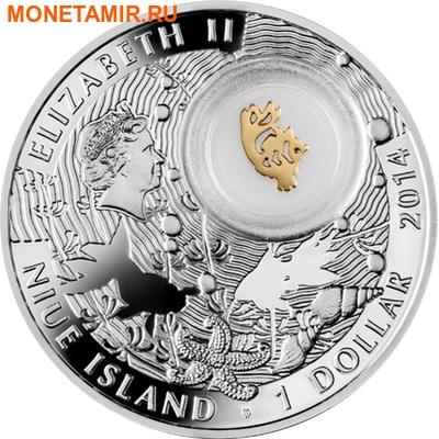 Ниуэ 1 доллар 2014.Символы счастья – Золотая рыбка.Арт.000197049063 (фото, вид 1)