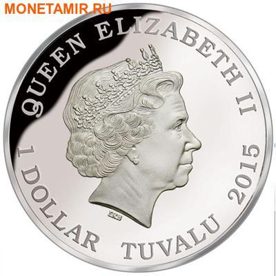 Тувалу 1 доллар 2015 Муравей Бульдог серия Смертельно Опасные (Tuvalu 1$ 2015 Deadly and Dangerous Bull Ant 1oz Silver Coin).Арт.000100050872/92 (фото, вид 1)