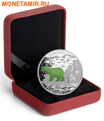 Канада 20 долларов 2015.Белый Медведь.Нефрит.Арт.000502450843/60 (фото, вид 2)