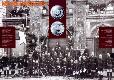 Латвия 5 евро 2015.150 лет Пожарной службы. (фото, вид 3)