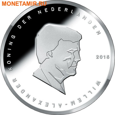 Нидерланды 5 евро 2015 Битва при Ватерлоо (Netherlands 5 Euro 2015 Battle of Waterloo).Арт. (фото, вид 1)
