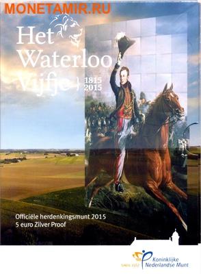 Нидерланды 5 евро 2015 Битва при Ватерлоо (Netherlands 5 Euro 2015 Battle of Waterloo).Арт. (фото, вид 2)