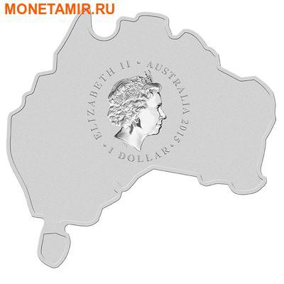 Австралия 1 доллар 2015.Орел – Клин-Белохвост серия Карта Австралии.Арт.000100050277/60 (фото, вид 1)