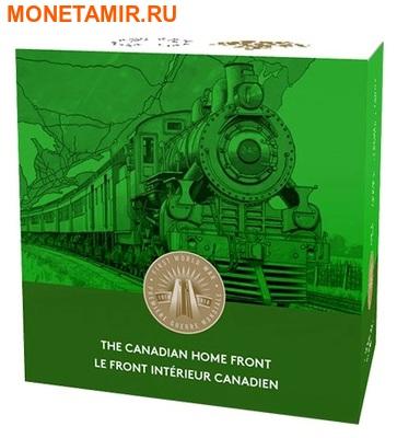 Канада 20 долларов 2015.Поезд – Трансконтинентальная железная дорога серия Канадский тыл.Арт.60 (фото, вид 3)