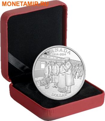 Канада 1 доллар 2014.100 лет начала первой мировой войны.Арт.000179646276 (фото, вид 2)