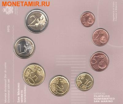 Сан-Марино 3,88 евро 2015. Годовой набор монет евро.(Буклет).Арт.60 (фото, вид 4)