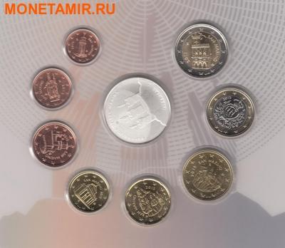 Сан-Марино 13,88 евро 2015.Годовой набор евро.Всемирный год света.(Буклет. 9 монет).Арт.000100050850/60 (фото, вид 3)