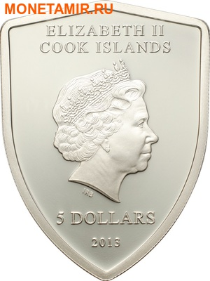 Острова Кука 5 долларов 2013.Феррари – эмблема.Арт.000339345186 (фото, вид 1)