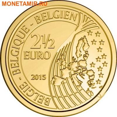 Бельгия 2,5 евро 2015 200 лет Битвы при Ватерлоо Коинкарта (2015 Belgium 2,5E 200 Yrs Battle of Waterloo Coincard).Арт.000100050800/60 (фото, вид 1)