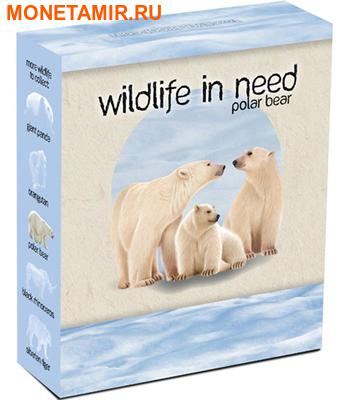 Тувалу 1 доллар 2012.Белые медведи серия Дикая природа в опасности.Арт.000287640390/60 (фото, вид 3)