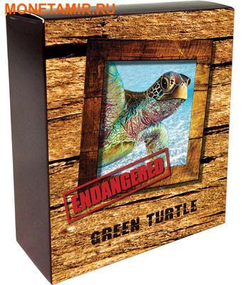 Тувалу 1 доллар 2014 Зеленая черепаха – Исчезающие виды.Арт.000221544889/60 (фото, вид 3)