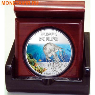 Тувалу 1 доллар 2011 Кубомедуза серия Смертельно Опасные (Tuvalu 1$ 2011 Deadly and Dangerous Box Jellyfish 1oz Silver Coin).Арт.000309434906/92 (фото, вид 2)