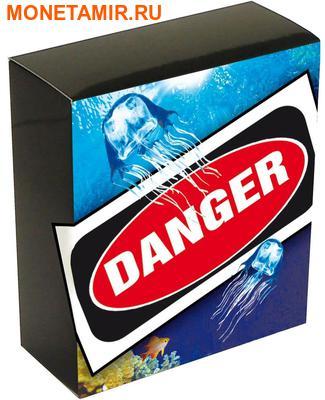 Тувалу 1 доллар 2011 Кубомедуза серия Смертельно Опасные (Tuvalu 1$ 2011 Deadly Dangerous Box Jellyfish).Арт.000309434906/60 (фото, вид 3)