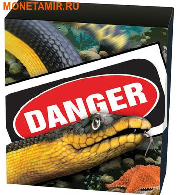 Тувалу 1 доллар 2013 Змея Двухцветная Пеламида серия Смертельно Опасные (Tuvalu 1$ 2013 Deadly and Dangerous Yellow Bellied Sea Snake 1oz Silver Coin).Арт.000326943254/92 (фото, вид 3)