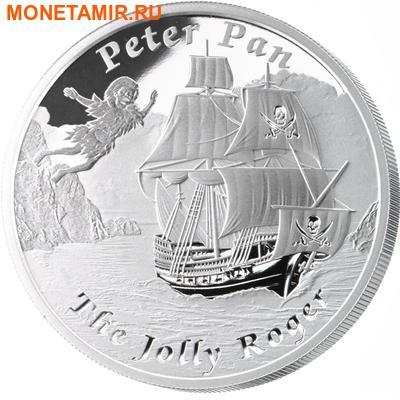 Тувалу 1 доллар 2014.Корабль – Веселый Роджер (Jolly Roger) серия Знаменитые корабли, которые никогда не ходили в плавание.Арт.000290148670/60 (фото, вид 1)