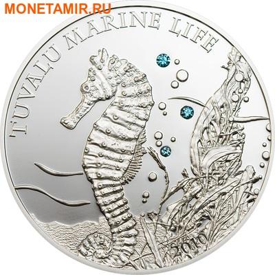 Тувалу 1 доллар 2010.Морской конек (Swarovski).Арт.000166630758/60 (фото, вид 1)