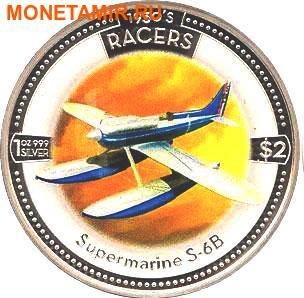 Острова Кука 5х2 доллара 2006.Скоростные самолеты 1930-х годов.Арт.000500046768/60 (фото, вид 1)