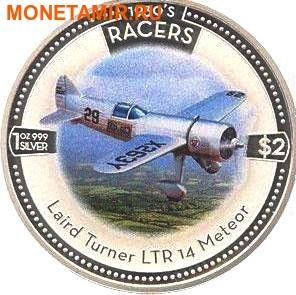 Острова Кука 5х2 доллара 2006.Скоростные самолеты 1930-х годов.Арт.000500046768/60 (фото, вид 3)