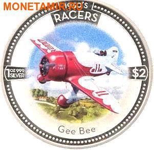 Острова Кука 5х2 доллара 2006.Скоростные самолеты 1930-х годов.Арт.000500046768/60 (фото, вид 4)