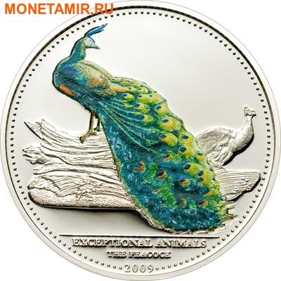 Палау 2х5 долларов 2009.Райская птица и павлин.Арт.60 (фото, вид 4)