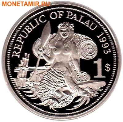 Палау 1 доллар 1993.Морская фауна – Защита морской жизни.Арт.000040047746/60 (фото, вид 1)