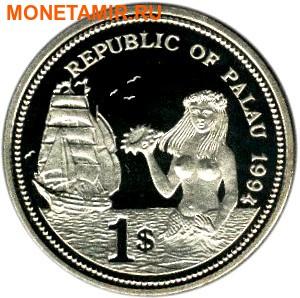 Палау 1 доллар 1994.Рыба клоун – Защита морской жизни.Арт.000040041814/60 (фото, вид 1)