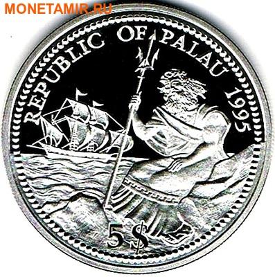 Палау 5 долларов 1995.Морской конек – Защита морской жизни.Арт.000114738287/60 (фото, вид 1)