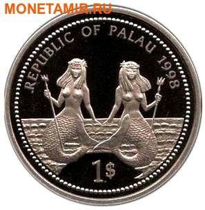 Палау 1 доллар 1998.Дельфин – Защита морской жизни.Арт.000040047748/60 (фото, вид 1)