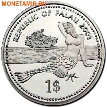Палау 1 доллар 2001.Морская Рыба – Защита морской жизни (голограмма).Арт.000040047750/60 (фото, вид 1)