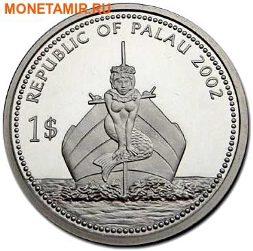Палау 1 доллар 2002.Морская Рыба – Защита морской жизни (голограмма).Арт.000046043290/60 (фото, вид 1)