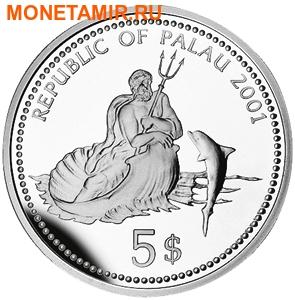 Палау 5 долларов 2001.Медуза – Защита морской жизни.Арт.000152545411/60 (фото, вид 1)