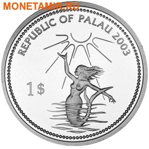 Палау 1 доллар 2003.Морской краб – Защита морской жизни.Арт.000040047753/60 (фото, вид 1)