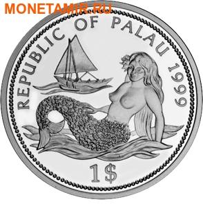 Палау 1 доллар 1999.Акула – Защита морской жизни.Арт.000040041820/60 (фото, вид 1)