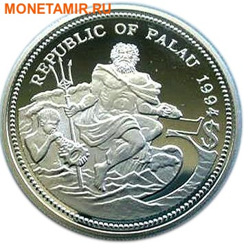 Палау 5 долларов 1994.Рыба клоун – Защита морской жизни.Арт.000086747781/60 (фото, вид 1)
