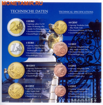 Австрия 3,88 евро 2010.Официальный годовой набор евро.Арт.60 (фото, вид 2)