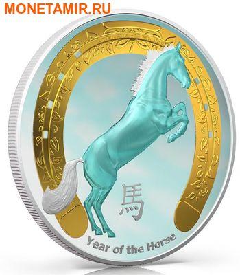 Ниуэ 2 доллара 2014.Год голубой Лошади.Арт.000409246344/60 (фото, вид 1)
