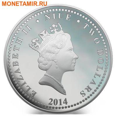 Ниуэ 2 доллара 2014.Год голубой Лошади.Арт.000409246344/60 (фото, вид 2)