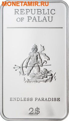 Палау 2 доллара 2012.Корабль Дельфин Русалка - Бесконечный рай.Арт.000201338967/60 (фото, вид 1)