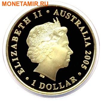 Австралия и Новая Зеландия 2х1 доллар 2005.Кенгуру и Киви.Арт.000034231220/60 (фото, вид 2)