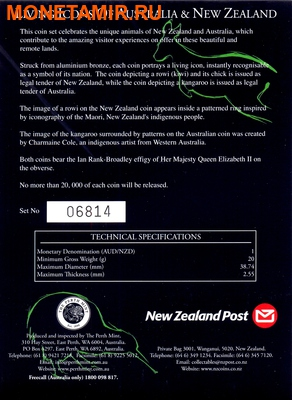 Австралия и Новая Зеландия 2х1 доллар 2005.Кенгуру и Киви.Арт.000034231220/60 (фото, вид 6)