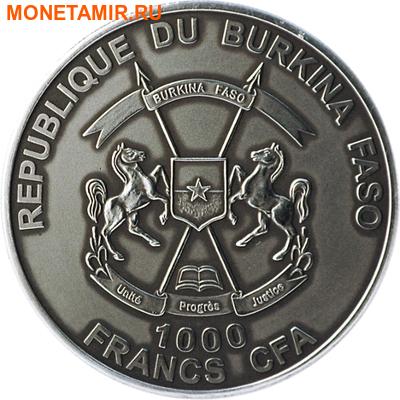 Буркина Фасо 1000 франков 2013.Детеныш Смилодона (эффект реальных глаз).Арт.000715749765/60 (фото, вид 1)