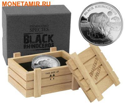 Ниуэ 2 доллара 2014.Черный Носорог серия Исчезающие виды.Арт.000100051141/60 (фото, вид 2)