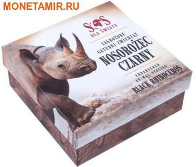 Ниуэ 1 доллар 2014.Черный Носорог – Вымирающие виды животных.Арт.60 (фото, вид 3)