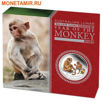 Австралия 1 доллар 2016.Год обезьяны – Лунный календарь (эмаль).Арт.60 (фото, вид 3)