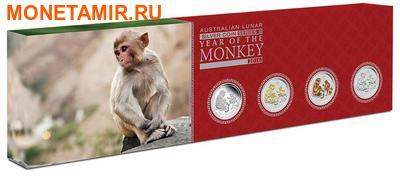 Австралия 4х1 доллар 2016.Год обезьяны – Лунный календарь.Арт.60 (фото, вид 6)