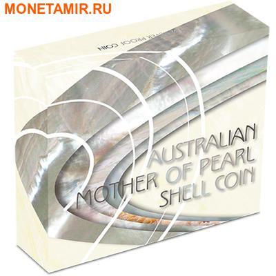 Австралия 1 доллар 2015.Перламутровая раковина.Арт.60 (фото, вид 3)