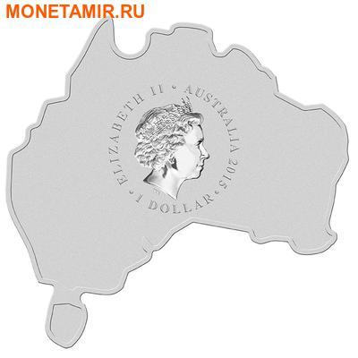 Австралия 1 доллар 2015.Паук красноспинный серия Карта Австралии.Арт.60 (фото, вид 1)