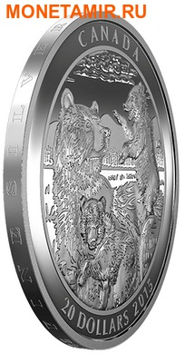Канада 20 долларов 2015.Медведи Гризли.Арт.60 (фото, вид 1)