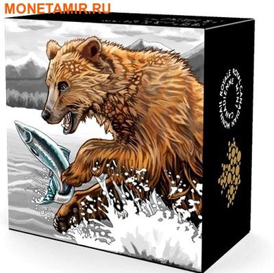 Канада 20 долларов 2015.Медведь Гризли ловит рыбу.Арт.60 (фото, вид 4)